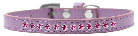 Bright Pink Crystal Size 10 Lavender Puppy Collar