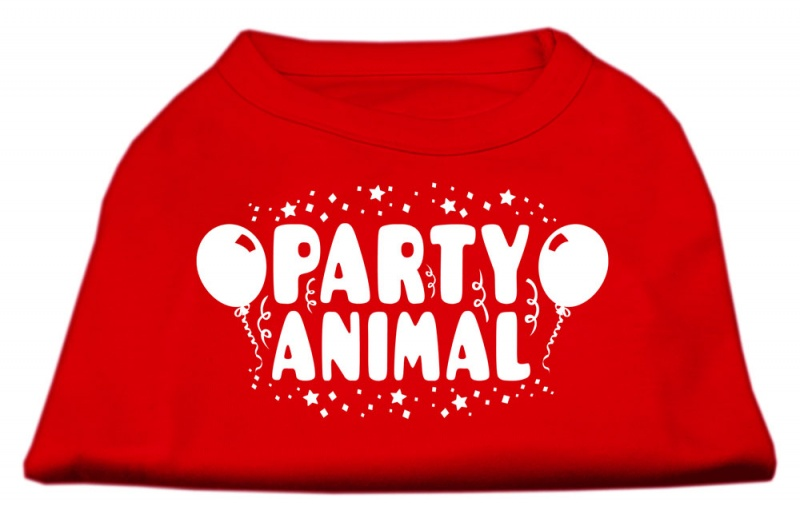 Party Animal Screen Print Shirt Red Sm