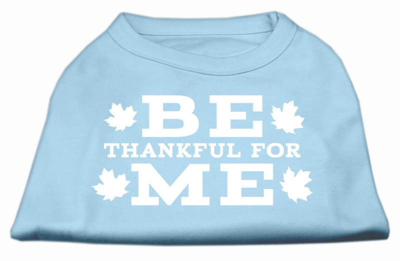 Be Thankful For Me Screen Print Shirt Baby Blue S
