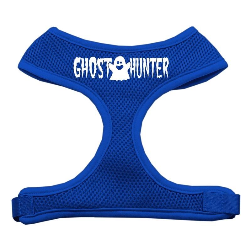 Ghost Hunter Design Soft Mesh Pet Harness Blue Medium