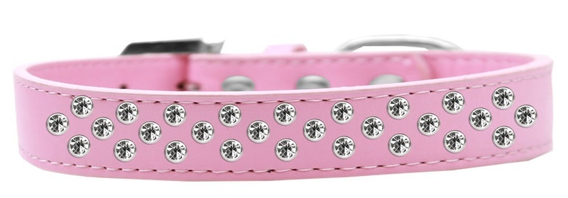 Sprinkles Dog Collar Clear Crystals Size 20 Light Pink
