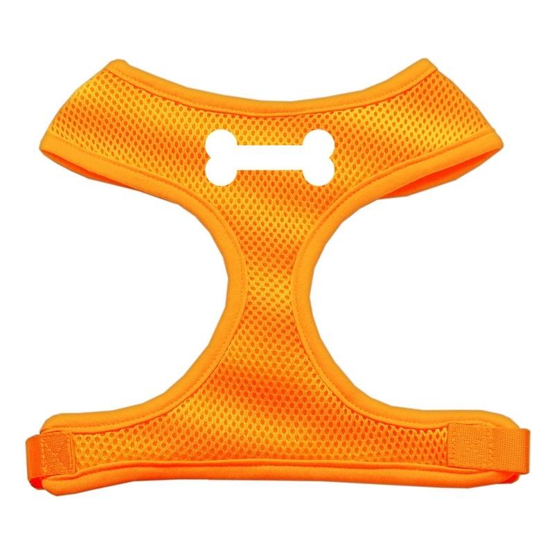 Bone Design Soft Mesh Pet Harness Orange Medium