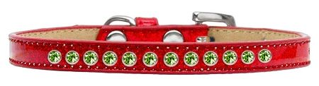 Lime Green Crystal Size 16 Red Puppy Ice Cream Collar