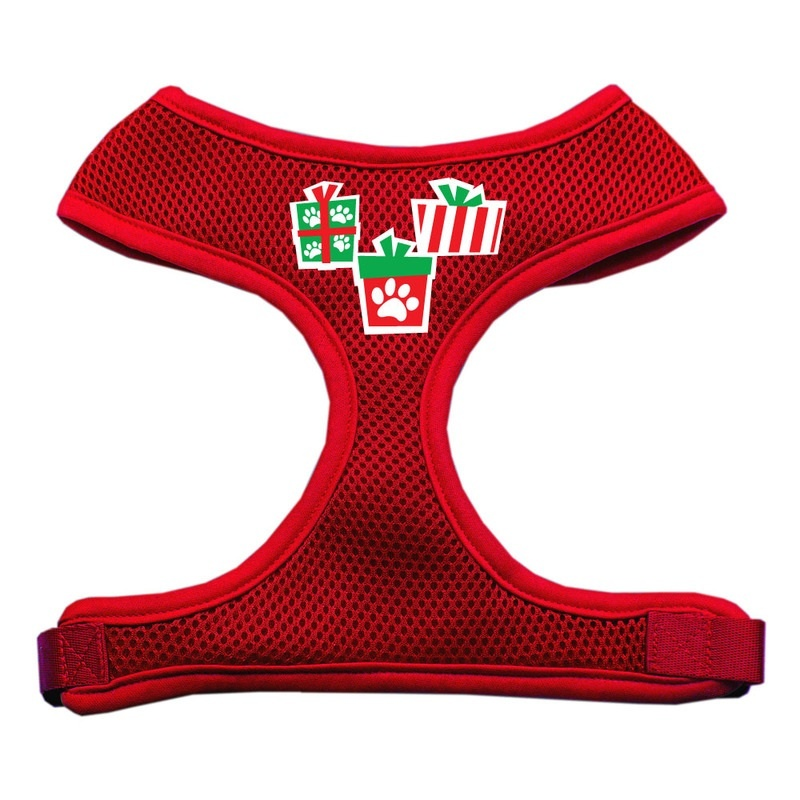 Presents Screen Print Soft Mesh Pet Harness Red Extra Large