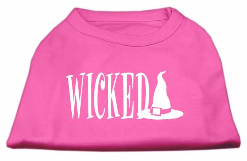 Wicked Screen Print Shirt Bright Pink Xs