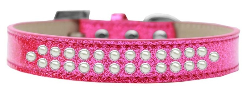 Two Row Pearl Size 18 Pink Ice Cream Dog Collar