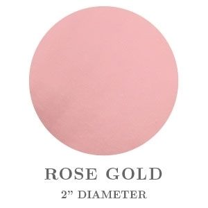 """2"""" Round Rose Gold Embossing Seals"""