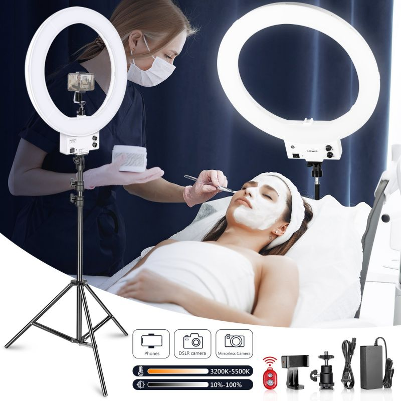 """Neewer 18"""" White Dimmable Bi-color Led Ring Light And Stand Kit"""