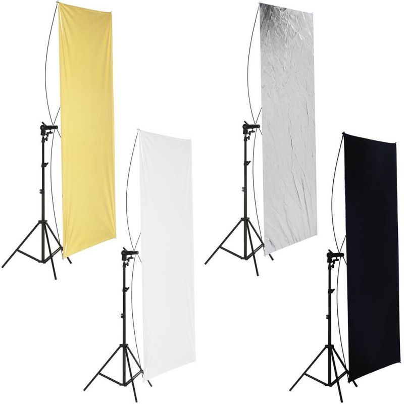 Neewer 90 X 180cm Gold/silver Light Reflector With Carrying Bag