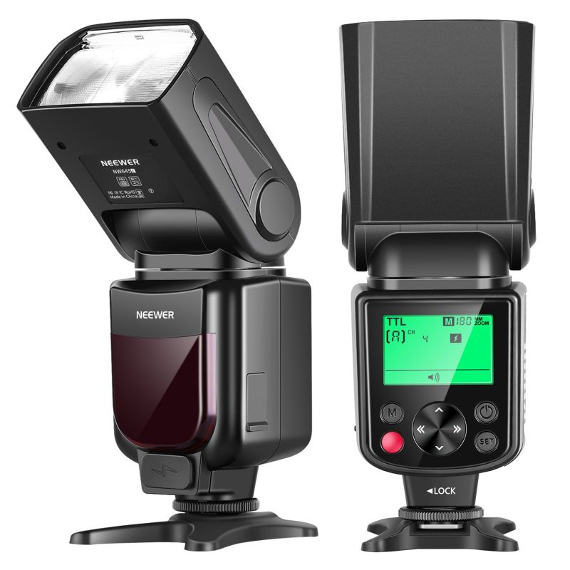 Neewer Nw645 Ttl Slave Gn58 Camera Flash Speedlite, Hss 1/8000s With Lcd Display