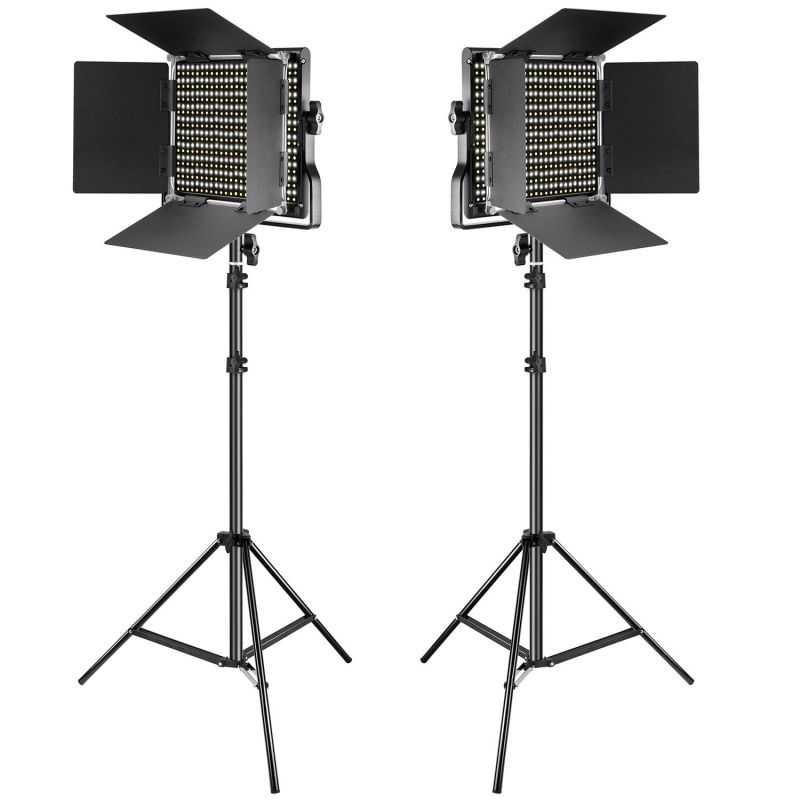 Neewer 2 Pieces Dimmable Bi-color 660 Led Video Light And Stand Kit