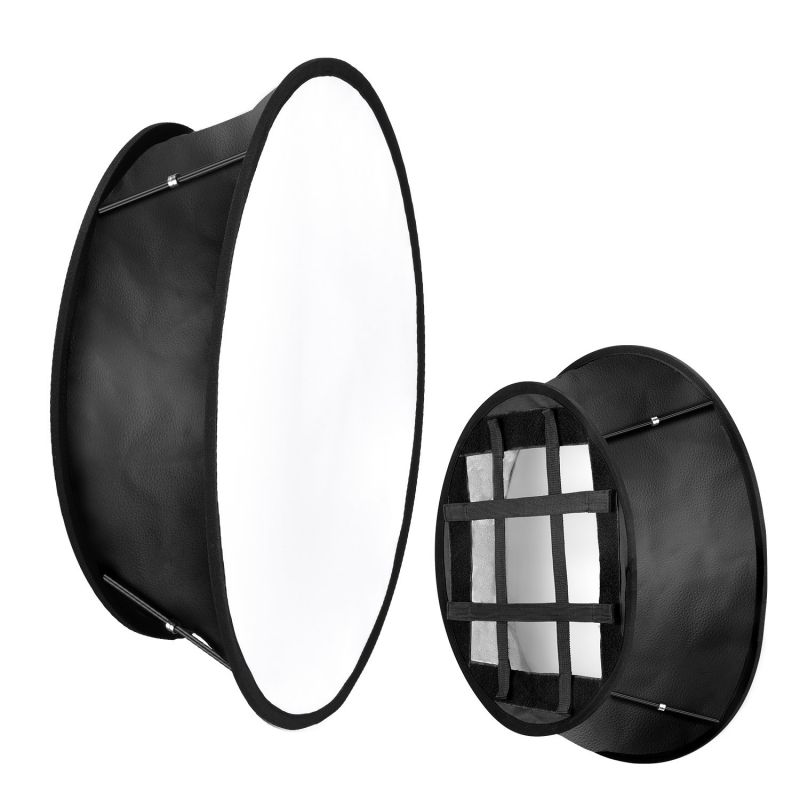Neewer 11.5x11.5inches Opening With Strap Attachment Collapsible Softbox Diffuser Compatible With Neewer 480/660/530 Led Light Panels