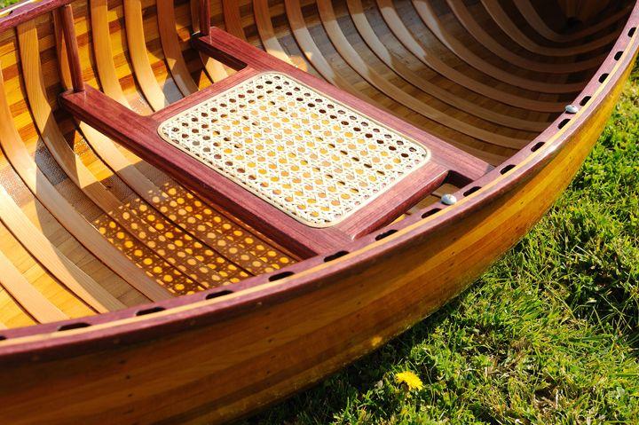 6 Ft Wooden Canoe With Rib