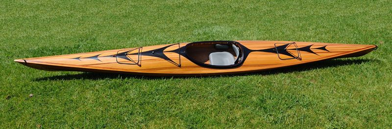Wooden Kayak With Arrows Design 17 Ft