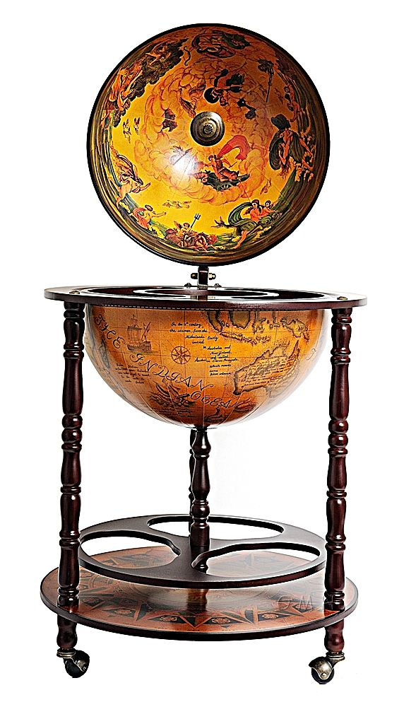 Globe Drink Cabinet 17 3/4 Inches