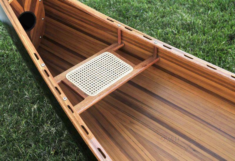 Wooden Canoe Dark Stained Finish 18 Ft