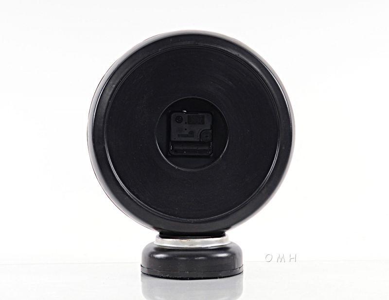 Black Gasoline 66 Gas Pump Clock