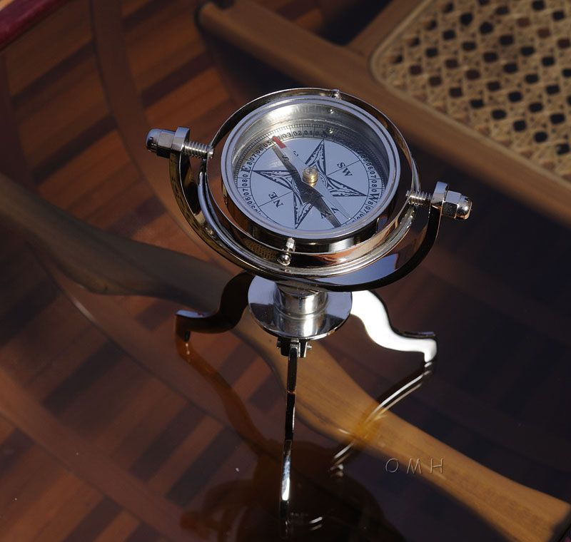 Gimbaled Compass On Tristand