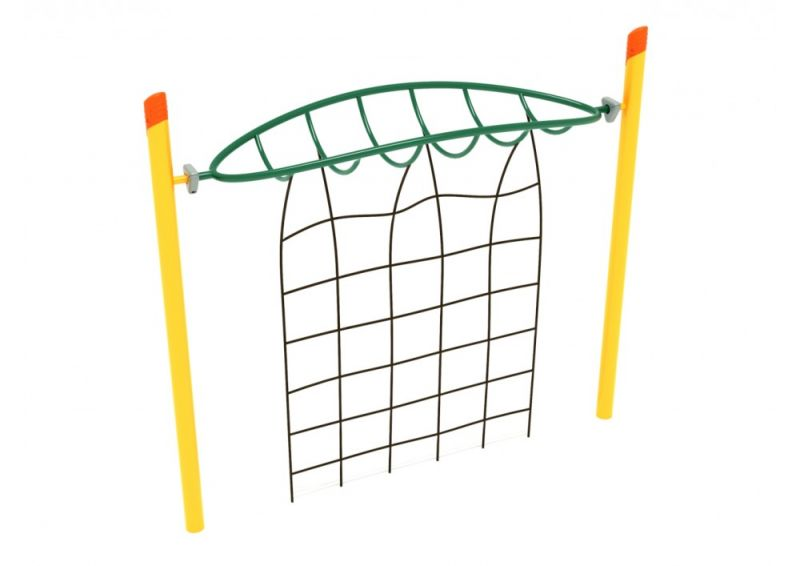 Single Post Overhead Inverted Horizon Climber With Rope Attachment
