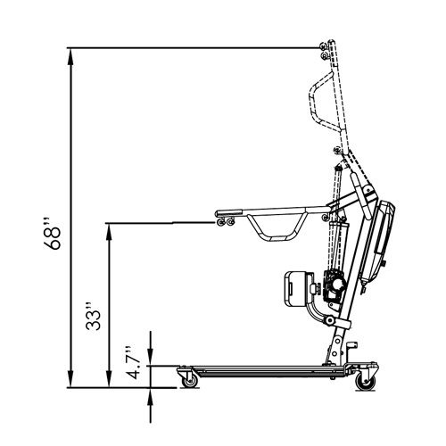 Stand Electric Sit-to-Stand Patient Lift - 500lb