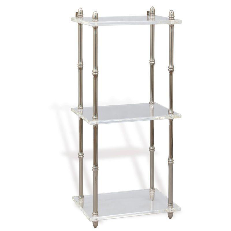 Carmel Nickel/Lucite Shelf