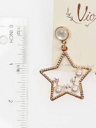 Star Shape Pearl Crystal Stone