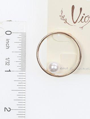 Pearl In The Ring 1 Inch Drop Metla Post Pin