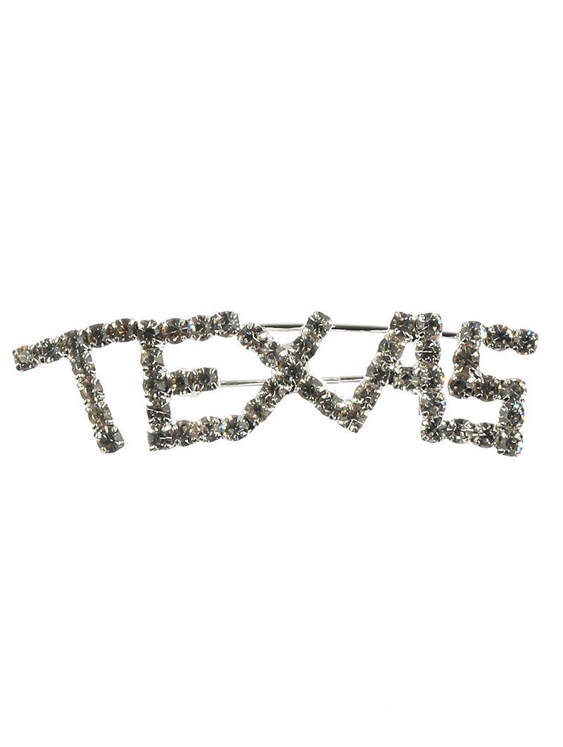 Pave Crystal Stone Texas Metal