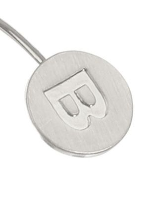 Letter Engraved Wire Cuff Letter b