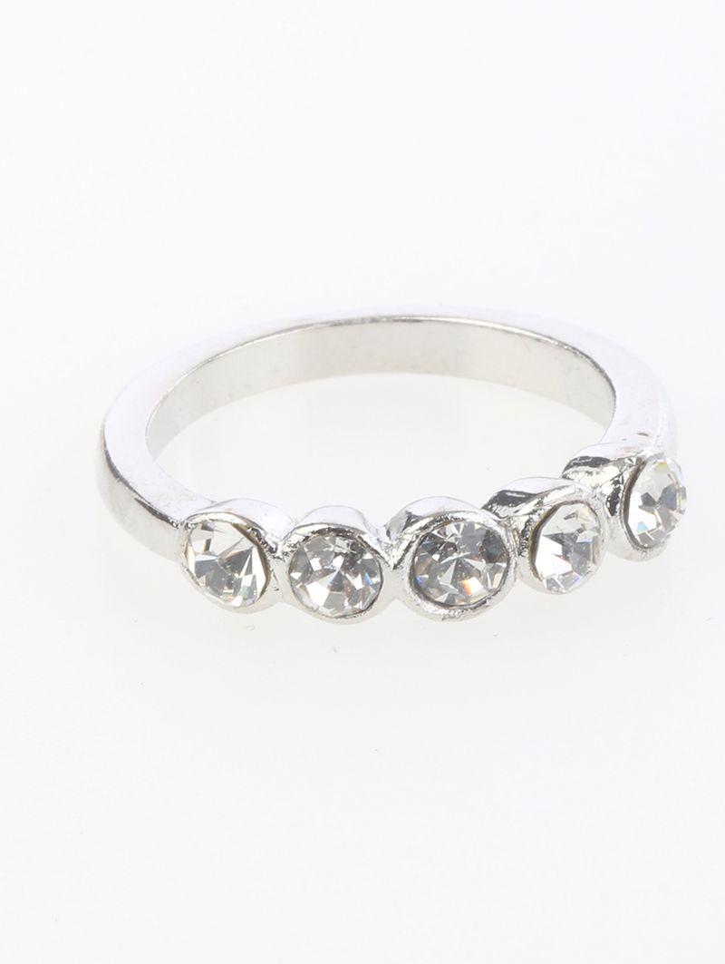 Crystal Stone Metal Size 6