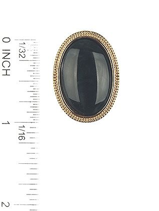 Natural Stone Finish Oval Metal Frame