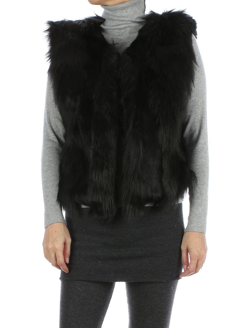 Russian Style Ribbed Soft Fur Single Hook Closure