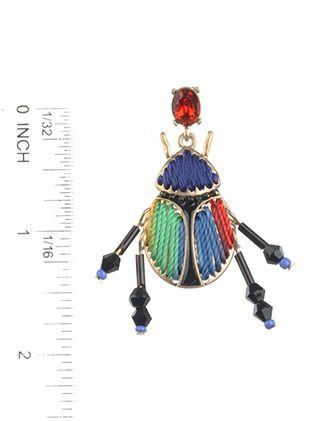 Ladybug Glass Stone Thread