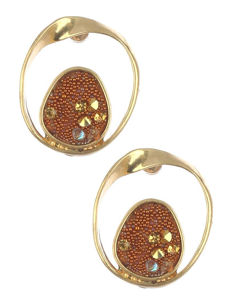Matte Finish Metal Twist Ring Micro Pearl Cluster
