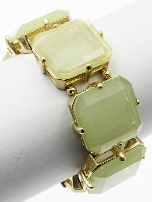 Faceted Homaica Stone Stretch Metal Setting