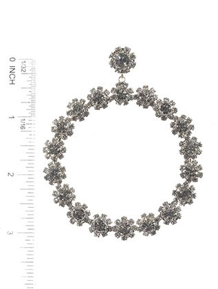 Post Pin Crystal Stone Flower
