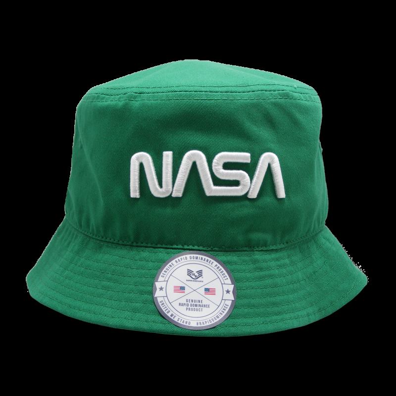 Nasa Relaxed Bucket Hat,Worm,Kelly, l_Xl