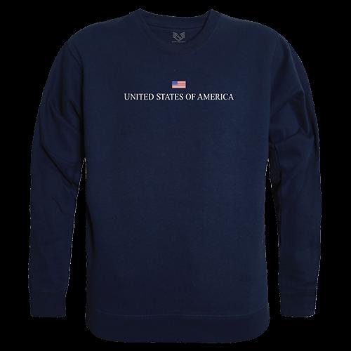 Graphic Crewneck, Usa, Navy, 2x