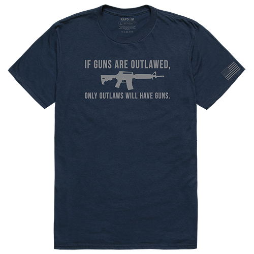 Tactical Graphic T, Outlawed, Navy, m