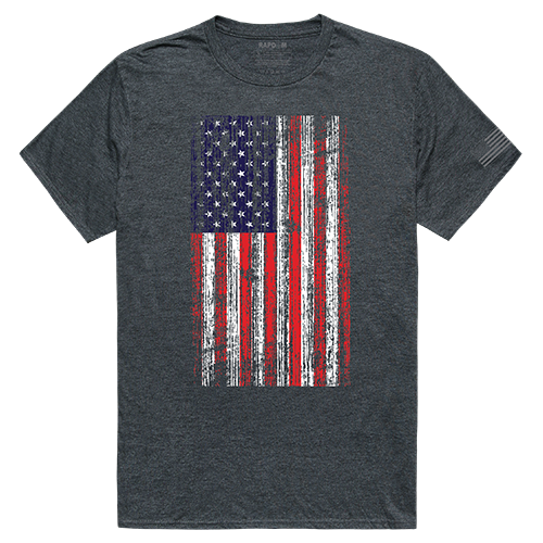 Tac. Graphic T, Distressed Flag, Hch, m
