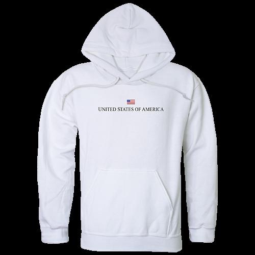 Graphic Pullover, Usa, White, m