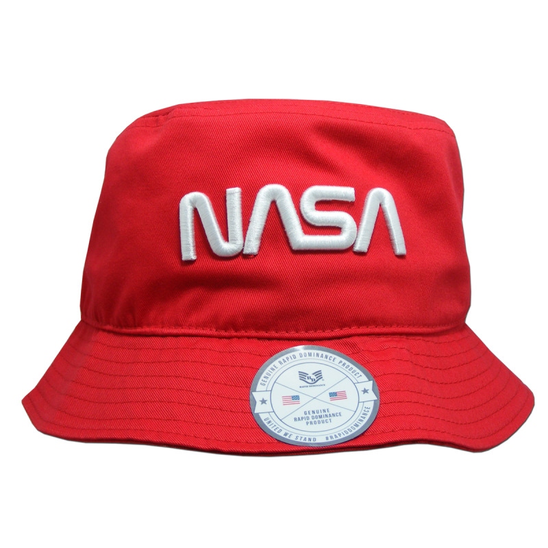 Nasa Relaxed Bucket Hat, Worm, Red, s_m