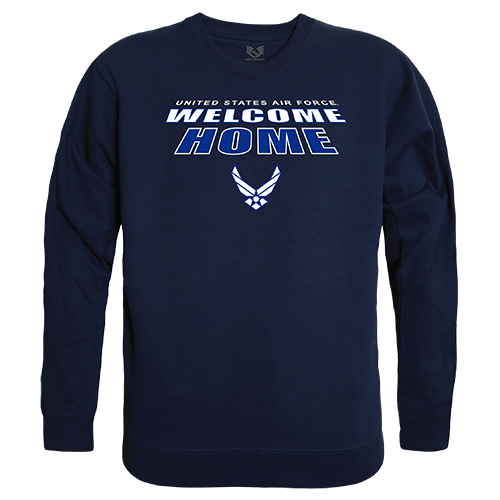 Graphic Crewneck, Welcome, Usaf, Nvy, l