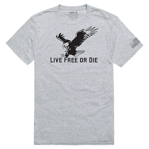 Tactical Graphic T, Live Free, Hgy, Xl