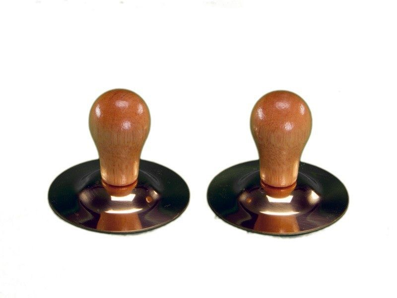 Brass Finger Cymbals With Wood Knobs (pr)