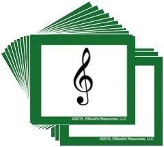 Elementary Music Symbol Cards By Elmused