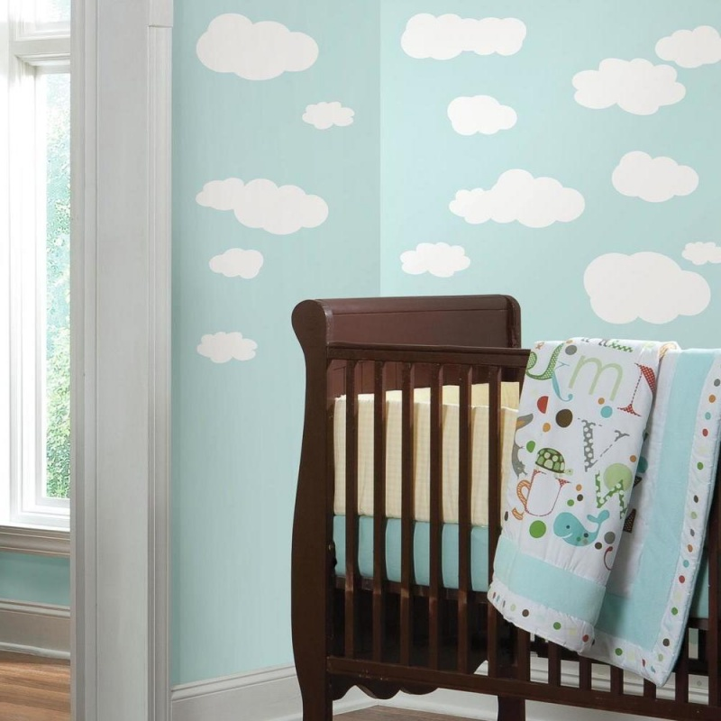 White Clouds Wall Decals