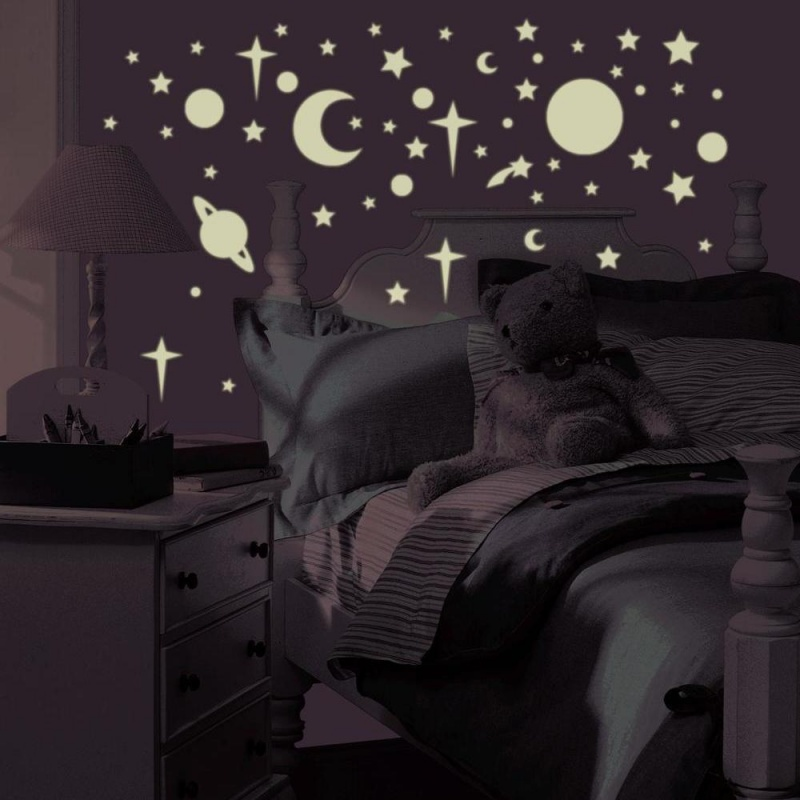 Celestial Stars & Planets Glow In The Dark Wall Decals