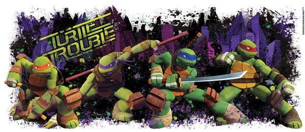 Teenage Mutant Ninja Turtles Turtle Trouble Giant Wall Decal