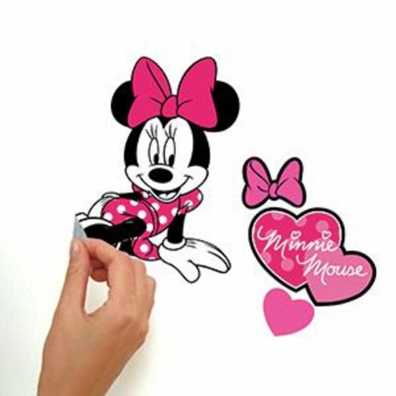 Minnie Loves Pink Wall Decals